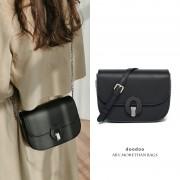 包包女新款時尚百搭馬鞍包優雅復古單肩包小巧可愛鏈條斜挎包
