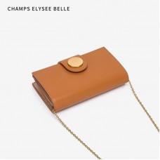 2020新款小ck潮長款女士錢包韓版時尚鏈條包折疊多層次單肩手抓包