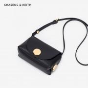 包包女新款小c k女包 韓版休閑包中包簡約復古金屬單肩斜跨包