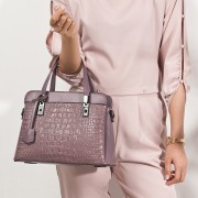 中年媽媽包成熟女包包新款歐美鱷魚紋單肩斜挎手提包