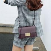 包包女新款韓版潮單肩包斜挎包時尚百搭手提包鎖扣小方包
