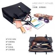 新款韓版潮手提包大容量殺手包鎖頭大包簡約百搭單肩斜挎女包