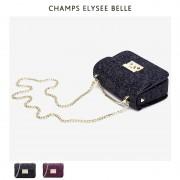 包包女新款小方包亮片斜挎包休閑單肩包女鏈條珠片包