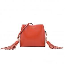 包包女新款時尚流蘇水桶包女手提單肩斜挎包女包