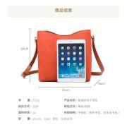 包包女新款韓版復古水桶包時尚簡約女包大容量子母包