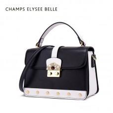 包包女新款手提包 时尚单肩斜挎包锁扣链条包小方包