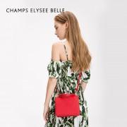 新款韓版單肩包 女士手提包繡線雙面風琴斜挎包