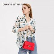 包包女新款單肩斜挎包鎖扣車縫線鏈條小方包女包