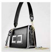 包包女新款秋冬韓版手提包時尚撞色單肩斜跨包鏈條小方包