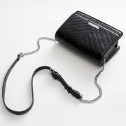 包包女新款單肩包韓版壓V字斜挎小方包貼牌鏈條女包